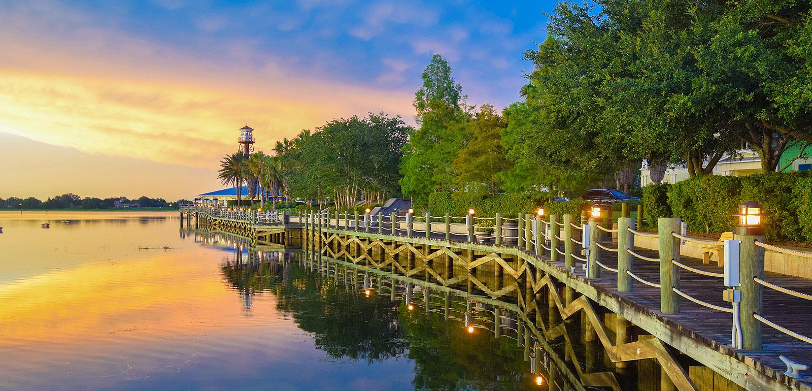 beautiful sunset in Ruskin, FL