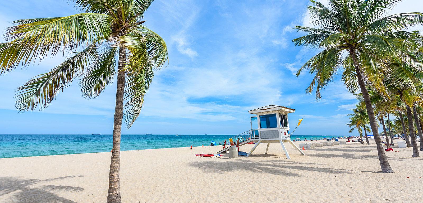 Pristine beach in Ruskin, FL